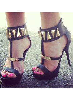 The Right Angle Strappy Heels