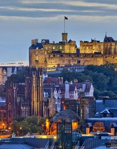 (Edinburgh Castle and Old Town at dusk) - December 14, 2012 - Article: The spirit of Christmas...in a glass: Hunting for Scotland's finest whisky in Edinburgh