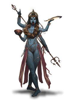 Interview: Tequila Brush Studio presents Age of Pantheons The Art Book - Nuts Computer Graphics durga mata Kali Goddess, Goddess Art, Shiva Art, Hindu Art, Kali Tattoo, Character Art, Character Design, Kali Ma, Lord Shiva Painting