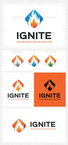 Ignite Logo — Photoshop PSD #burn logo #energy logo • Available here → https://graphicriver.net/item/ignite-logo/11592730?ref=pxcr