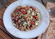FITNESS FRIDAY #4: FARRO, THE ANCIENT GRAIN : Mediterranean Salad via BetterRecipes.com