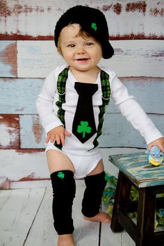 His MonthOld Baby Into A Mischievous Leprechaun For St - Dad turns his 6 month old son into real life leprechaun for st patricks day