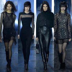 Somos todos Alexander Wang! O estilista agradou as góticas suaves apenas com looks pretos (e alguns com toques de cinza) na sua apresentação sempre concorrida na #NYFW.