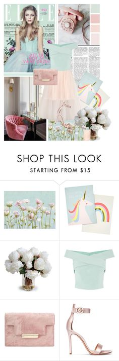 """Pink&mint"" by amethystes ❤ liked on Polyvore featuring Nicki Minaj, Meri Meri, Retrò, New Growth Designs, Coast, Gianvito Rossi and Tory Burch"