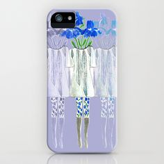 Iris Illustration iPhone Case by Bouffants and Broken Hearts - $35.00 FREE SHIPPING THROUGH SUNDAY DECEMBER 9TH using this link ONLY http://society6.com/KendraDandy?promo=22337a