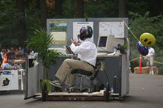 Office cubicle derby car @ Portland Soapbox Derby!