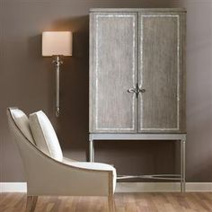 Straight Up with a Twist : Classic Contemporary : Closed Storage : con-closto-053 | Caracole Furniture