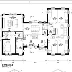 Perfect separation of bedrooms Family House Plans, Dream House Plans, Small House Plans, House Floor Plans, My Dream Home, Big Houses, Little Houses, Sims Building, Welcome To My House
