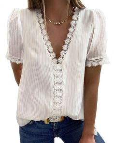 Fashion Star, Trend Fashion, Spieth Und Wensky, Looks Plus Size, Shirt Blouses, Shirts, Lace Insert, Blouse Online, Mode Outfits