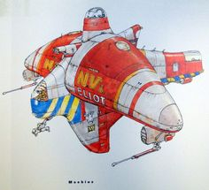 Moebius - The Fifth Element, concept art (1997):