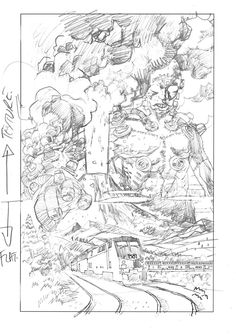 Making of a Cover : The Devil's Engine  Duncan Fegredo drawing#1