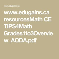 www.edugains.ca resourcesMath CE TIPS4Math Grades1to3Overview_AODA.pdf