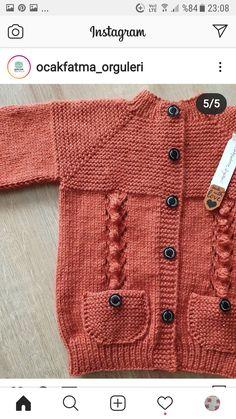 Baby Boy Knitting Patterns Free, Baby Cross Stitch Patterns, Baby Sweater Patterns, Baby Cardigan Knitting Pattern, Knitting Daily, Knitting For Kids, Girls Sweaters, Baby Sweaters, Easy Knit Baby Blanket