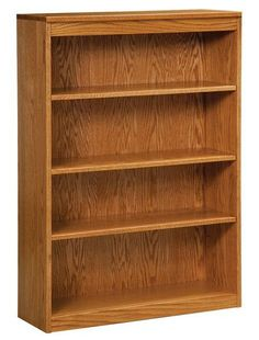 "Amish Simple 36"" Bookcase A delightful wood bookcase, this simple style is versatile, attractive and strong. Build the bookcase you want and need with a variety of sizes to pick from, along with wood type and stain. #bookcases #officefurniture #bookshelves"