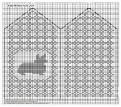 Knitting Patterns, Corgi Mittens, Knitted Charts, Knitting Charts, Patterns Mittens, Needlework Charts