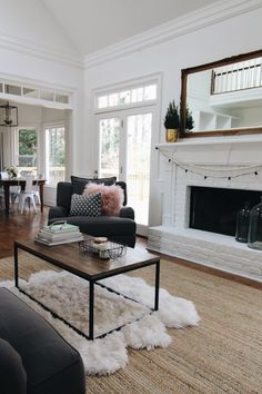 Cozy Family Room Tour // Furniture by @jonathanlouis