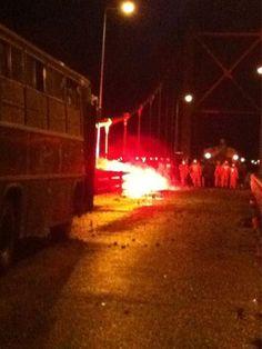 Protestas en Aysén: Nuevos enfrentamientos se registran en Puente Ibáñez