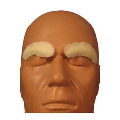 Rubber Wear Eyebrow Covers Foam Latex Prosthetic | Camera Ready Cosmetics How To Remove Adhesive, Makeup Class, Sfx Makeup, Makeup Application, Eyebrows, Sculpting, Latex, Alcohol, Make Up