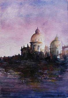 Inspired by Venice (© Stanislav Gazda) - Watercolors #watercolor #watercolorpainting #painting #watercolors #landscape #cityscape #venice #italy #venezia #italia