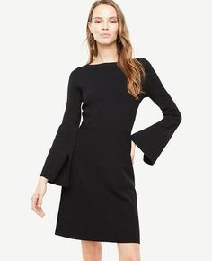#Ann Taylor - #Ann Taylor Ann Taylor Petite Slit Sleeve Flare Sweater Dress - AdoreWe.com
