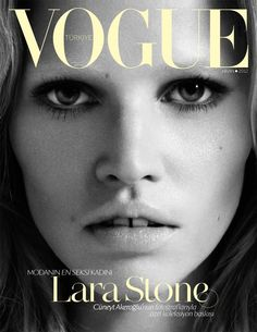 One and only Lara Stone makes Vogue Turkey deliver their & her best cover ever.