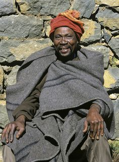 Lesotho Elder : Drakensburg Pass, Lesotho, Africa : Photography of Ian Cameron Global World, Global Home, Global Style, Africa People, African Men, Target Audience, Beauty And The Beast, South Africa, Egypt