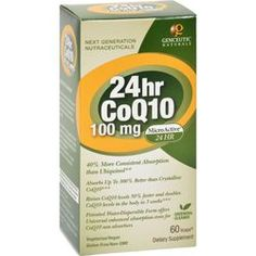 $23.99 - genceutic-naturals-24-hour-coq10-100-mg-60-vcaps - Due to the hundreds of published, peer-reviewed studies, scientists around the world are extensively researching the many potential health benefits of CoQ10.