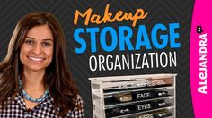 [VIDEO]: Makeup Storage & Organization Quick and easy tips on makeup storage and organization for all of your cosmetics and brushes. Makeup Drawer Organization, Makeup Storage Organization, Cosmetic Storage, Organization Ideas, Storage Ideas, Jewelry Storage, Bathroom Organization, Storage Solutions, Large Acrylic Makeup Organizer