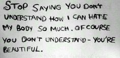 Of course you don't understand.