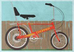 Chopper Bike Art Print bike bicycle