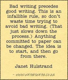 Quotable - Janet Hulstrand - Writers Write Creative Blog