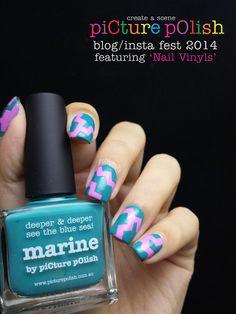 @picturepolish Blog/Insta Fest 2014 Part 2. Featuring @NailVinyls . Polishes used: Dream -- piCture pOlish Marine -- piCture pOlish