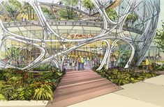 NBBJ's Biodome for Amazon Approved by Seattle Design Board