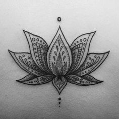 Dotwork Lotus Flower. Tattoo by Fliquet Renouf.