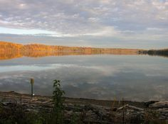 Eagle Creek Reservoir in October. Indianapolis. Happening on to scenes like this is one of the reasons I ride.