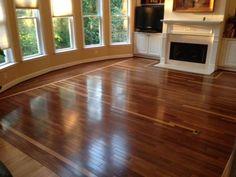 Lovely hardwood flooring we installed