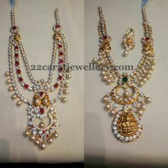 CZ Two Layer Pachi Style Necklace | Jewellery Designs