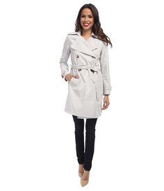 DKNY Double-Breasted Soft Trench Coat