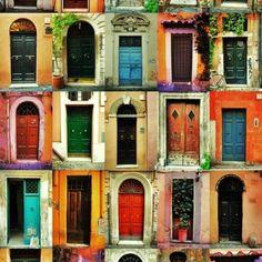 trastevere doorways... so pretty