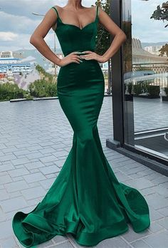 Mermaid Green Prom Dress, Evening Dress, Special Occasion Dress, Formal Dress,Graduation School Party Gown · KProm · Online Store Powered by Storenvy Straps Prom Dresses, Gala Dresses, Evening Dresses, Chiffon Dresses, Long Dresses, Green Evening Dress, Green Party Dress, Sexy Green Dress, Mermaid Evening Gown