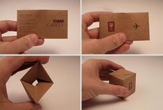 21 Most Amazing Business Cards Ever Amazing Business Cards, Make Business Cards, Custom Business Cards, Creative Business, Free Business Card Maker, Origami, Name Card Design, Bussiness Card, Name Cards