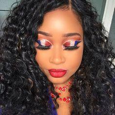 Fourth if July Make Up Inspo!##beautyblogger#highlight#hudabeauty#makeupartist#wingedliner #liquidlipstick #anastasiabrows #makeupforblackwomen #blackgirlmagic  #amrezy #norvina #blackbeauty #vegasnay #blend  #dipbrow #motd #anastasiabeverlyhills #powerofmakeup  #melformakeup#beyonce#kyliejenner#curlyhair#slay#makeupjunkie#melaninbeauty#summer#cutcrease#makeupmafia#wig#happy4thofjuly http://ameritrustshield.com/ipost/1551781246387039580/?code=BWJCNJoAy1c