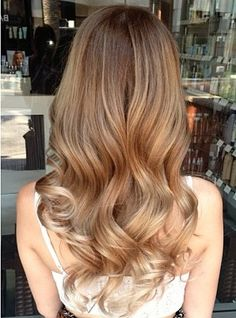 Balayage / love this honey caramel color