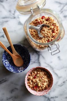 Toasted muesli with millet, coconut, pistachios, and cranberries