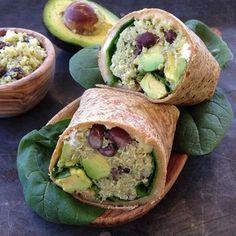 quinoa wrap with black beans, feta and avocado – Marin Mama Cooks
