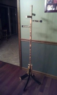 Hockey stick rack