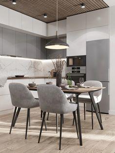 Kitchen Room Design, Condo Kitchen, Home Room Design, Kitchen Cabinet Design, Modern Kitchen Design, Living Room Kitchen, Interior Design Kitchen, Kitchen Decor, Small Modern Kitchens