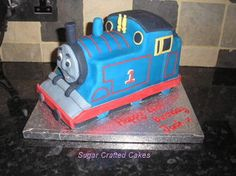 thomas the train cake-I wish I was talented enough to do this one lol