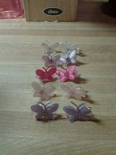 Mini butterfly clips-$2 set of five pairs