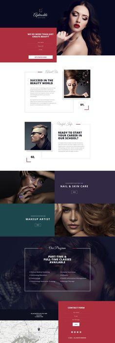 Aphrodite Beauty School Web Design | Fivestar Branding – Design and Branding Agency & Inspiration Gallery